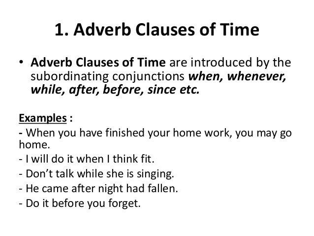 Unit 4 Adverb Clauses
