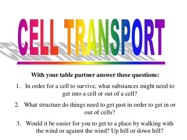 Unit 4 cell transport