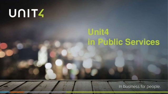 Unit4 in Public Services
