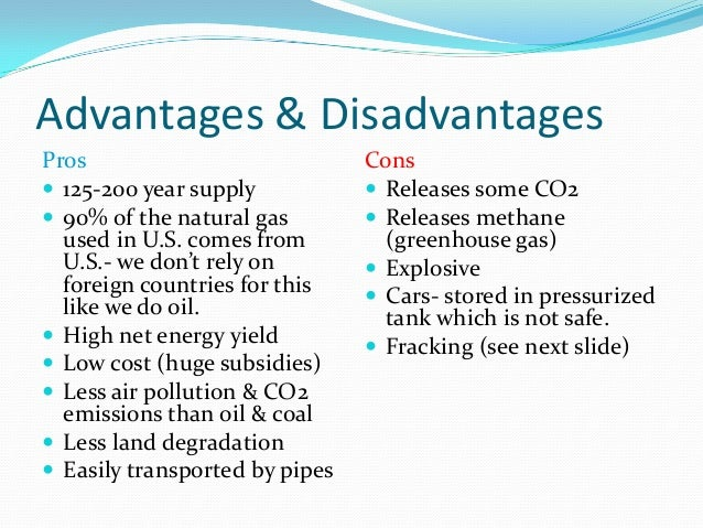 Advantages Of Using Natural Gas As Fuel