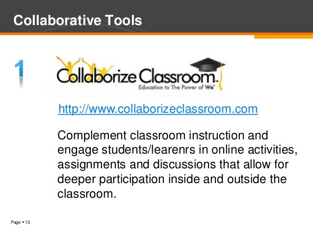 Inside Collaborative Classroom : Technology in teaching learning web tools