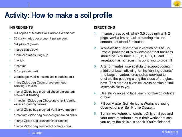 Unit 4 ecology and ecosystem lecture 2a – Soil Layers Worksheet