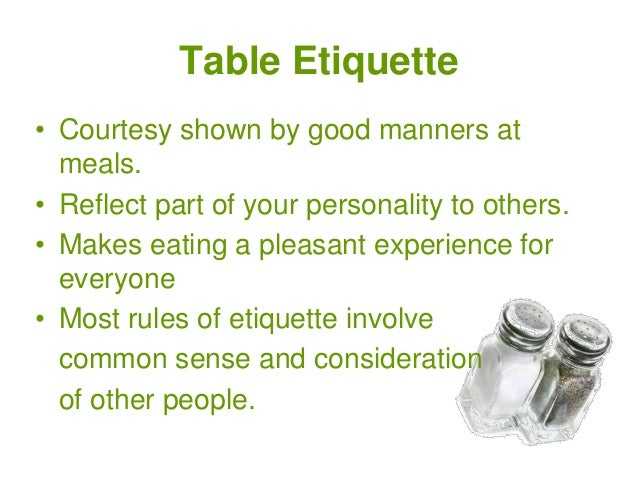 sc 1 st  SlideShare & Unit 4 Table Setting and Etiquette