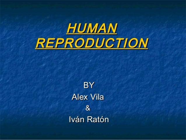 HUMANHUMAN REPRODUCTIONREPRODUCTION BYBY AlexAlex VilaVila && Iván RatónIván Ratón