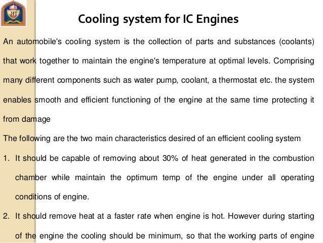 Cooling And Lubrication System