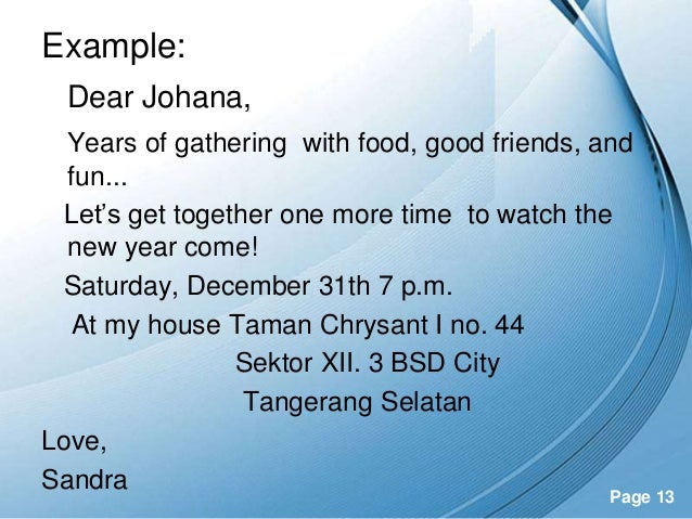 13. Powerpoint Templates ...  Get Together Invitation Template