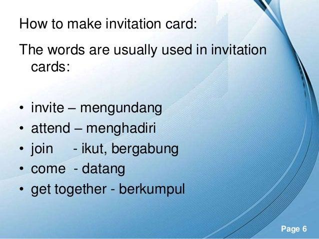 Unit 4 invitation – Invitation Card for Get Together