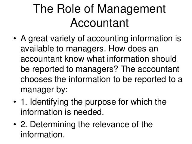 Management Accounting An Overview