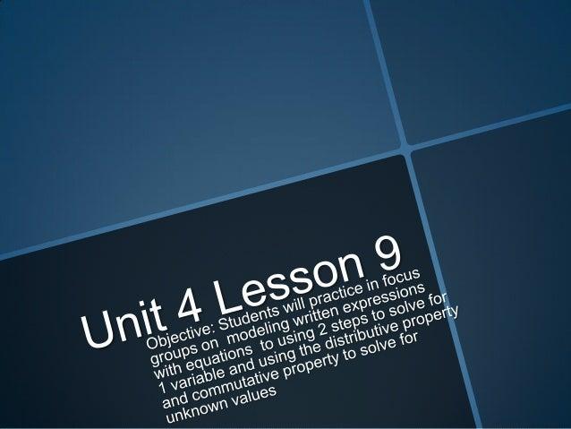 Unit 4 lesson 9