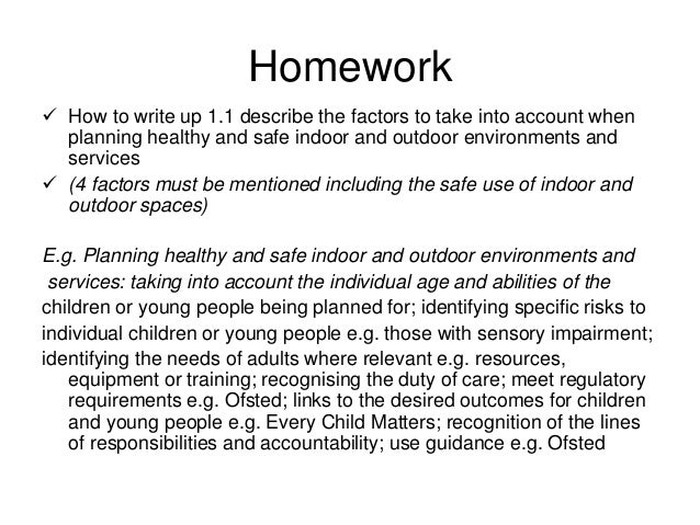 factors to take into account when planning healthy and safe indoor and outdoor environments and serv Even when these factors were taken into account,  exposure to indoor natural  the incorporation of these resources into the design of work environments.