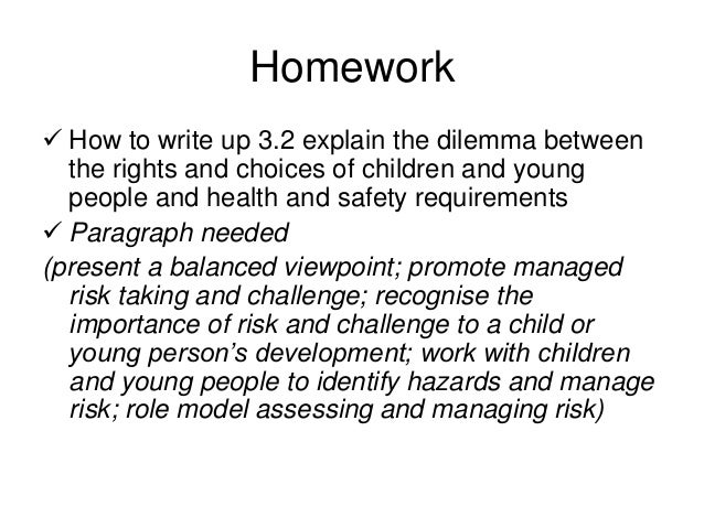 support children and young peoples health and safety essay Support children and young people's health and safety essay sample result 1 1 ) when be aftering for immature people you need to take several factors into history to do certain the environment and services are safe.