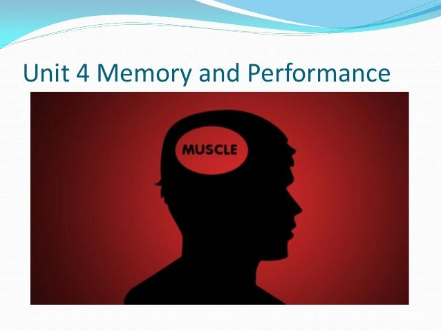 Unit 4 Memory and Performance