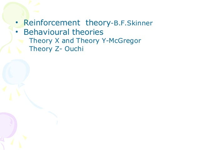 reinforcement theory to motivate emplooyees When thinking in terms of motivating employees motivation and reinforcement another commonly used term for this theory of reinforcement is called.