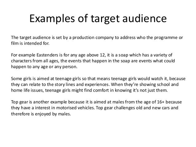 targets its audience essay Do you want to learn how to title an essay so that your reading audience covers the entire paper students break their heads against the wall trying to understand how to title an essay people judge the book by its cover & title deciding on the appropriate words to name the written product is one of.