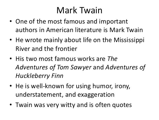 The examples of mark twains portrayal of imperfect characters