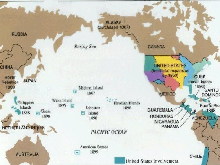 Unit US Becomes A World Power - Us territorial influence 1914 map answers