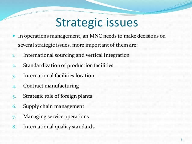 unit 4 production, marketing, financial and human resource management\u2026strategic issues  in operations management