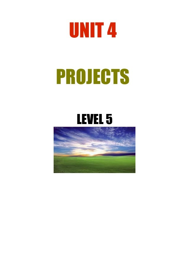 UNIT 4 PROJECTS LEVEL 5