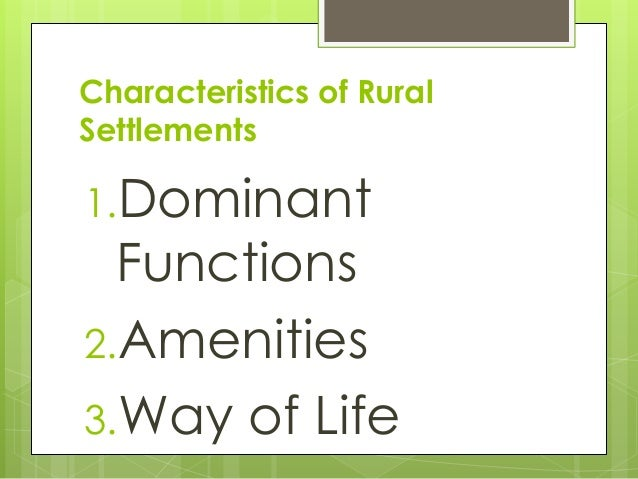 characteristics of urban and rural The present report analyzes the components of urban growth in a large related to changing patterns of urban migration rates for urban-rural.