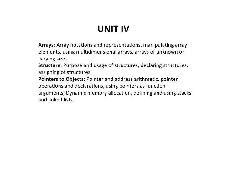 Arrays:  Array notations and representations, manipulating array elements, using multidimensional arrays, arrays of unknow...