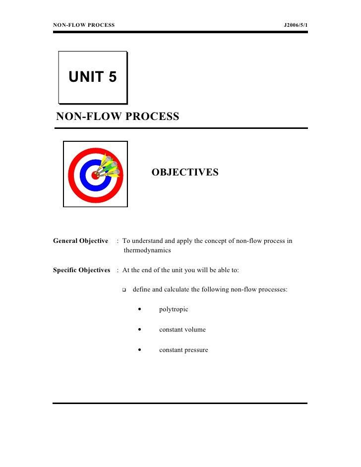 NON-FLOW PROCESS                                                                J2006/5/1     UNIT 5 NON-FLOW PROCESS     ...
