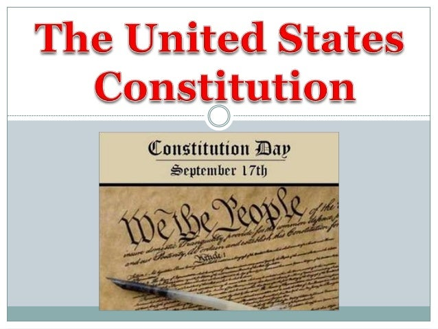 """ The Constitution is the United States' fundamental law  It is also """"the supreme Law of the Land"""" meaning it is the high..."""