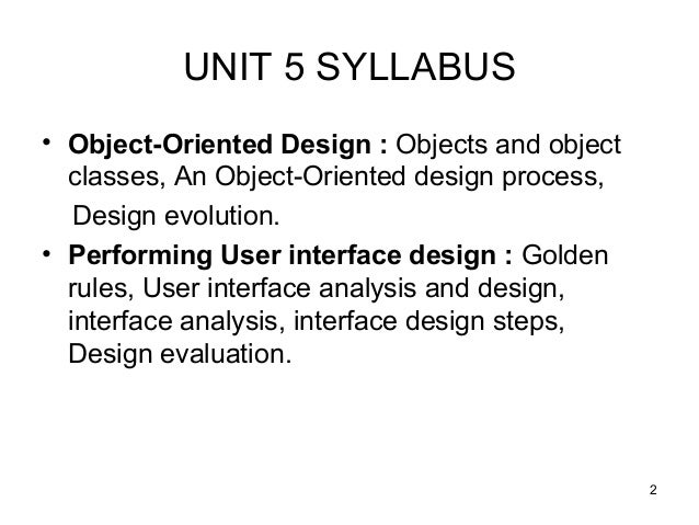 Interface Design Performing User Interface Design In Software Engineering