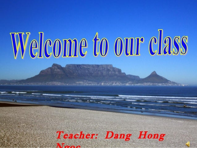 Teacher: Dang Hong