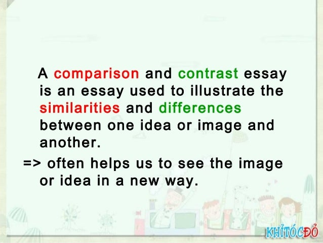 comparison or contrast essays