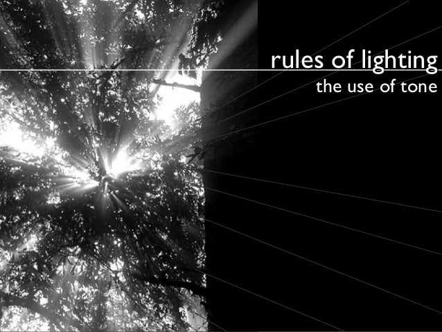 rules of lighting the use of tone