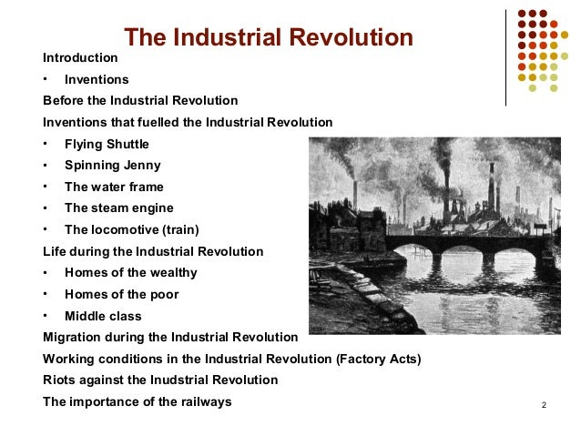 the importance of industrial revolution Keywords: industrial revolution, economic growth, growth theory  another  important element in the industrial revolution era is the unimportance.