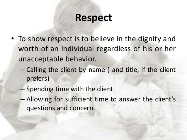 Definition of respect in a relationship