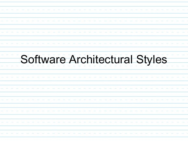 13. Software Architectural ...