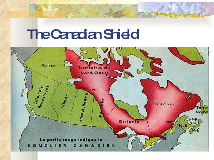 Unit Canada Environmental Issues - Map of the us canadian shield