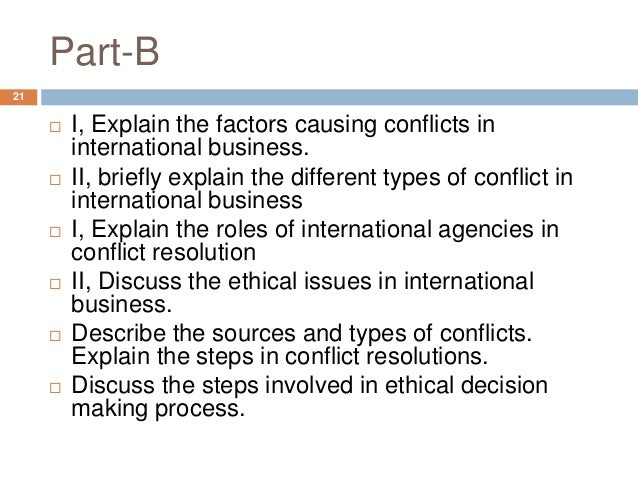 conflict management and decision making in international Find international the use of compromise in conflict management has a feeling orientation toward decision making there is likely to be disagreement.