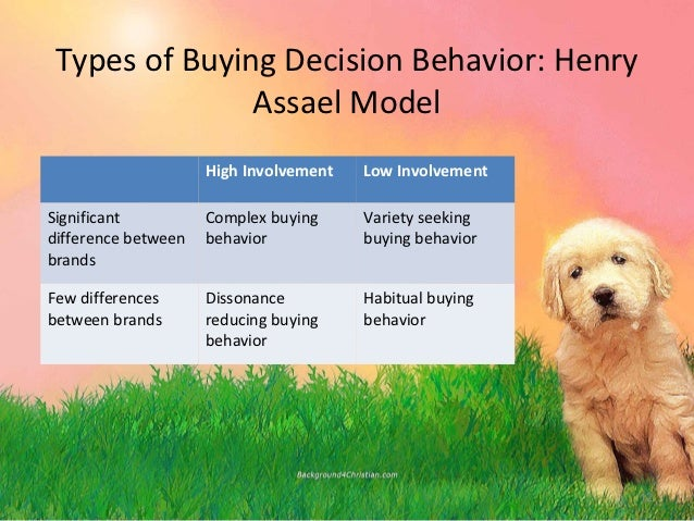 a conjoint analysis in high involvement purchase decision Consumer preferences for product information and  an increasing role in consumers' purchase decision process  choice-based conjoint analysis combined with a.