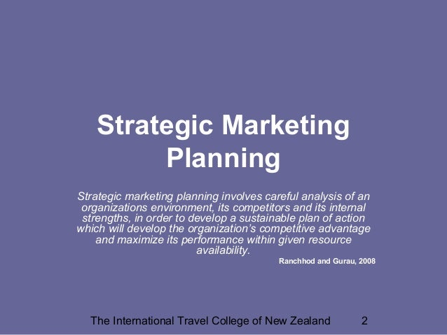 Marketing in Travel & Tourism: The Role of Marketing as a Tool Slide 2