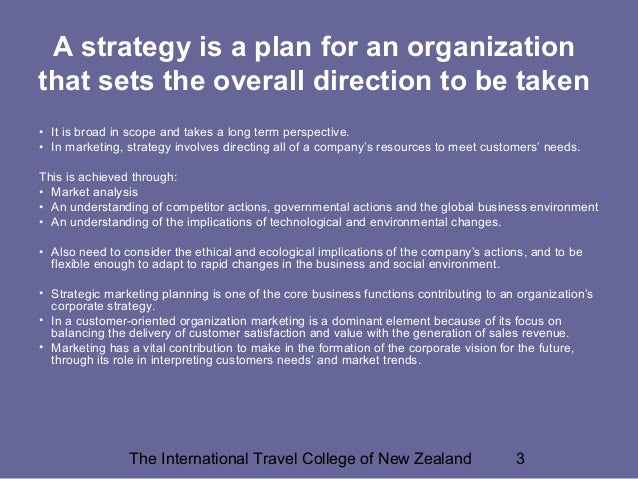 Marketing in Travel & Tourism: The Role of Marketing as a Tool Slide 3