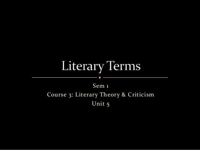 Sem 1 Course 3: Literary Theory & Criticism Unit 5