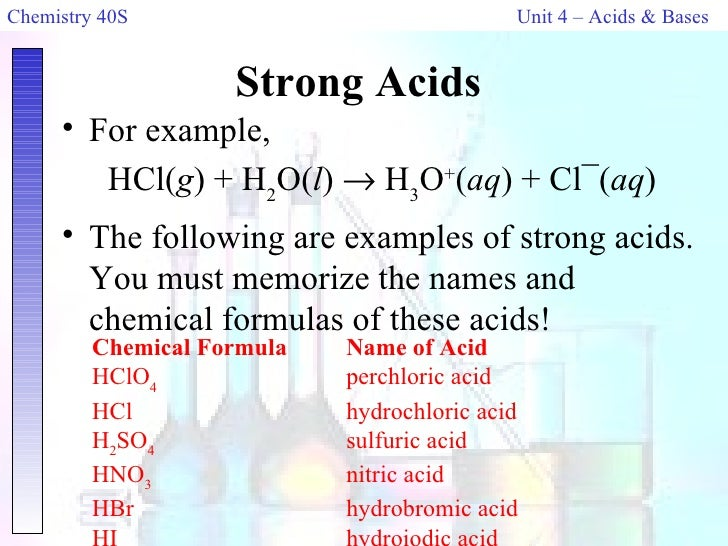 acid base chemistry lab essay Chemistry experiment - chemistry experiment an investigation to find out how the rate of the reaction of hydrochloric acid and sodium thiosulphate solution is affected by the concentration of the sodium thiosulphate.