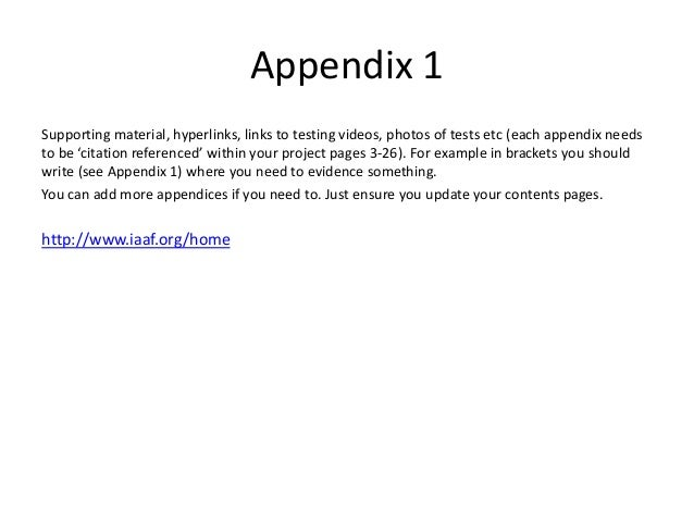 how to write appendix in research paper