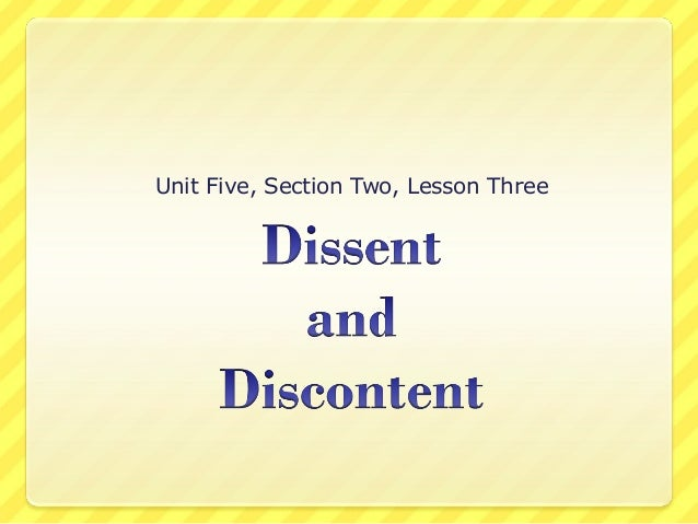 Unit Five, Section Two, Lesson Three