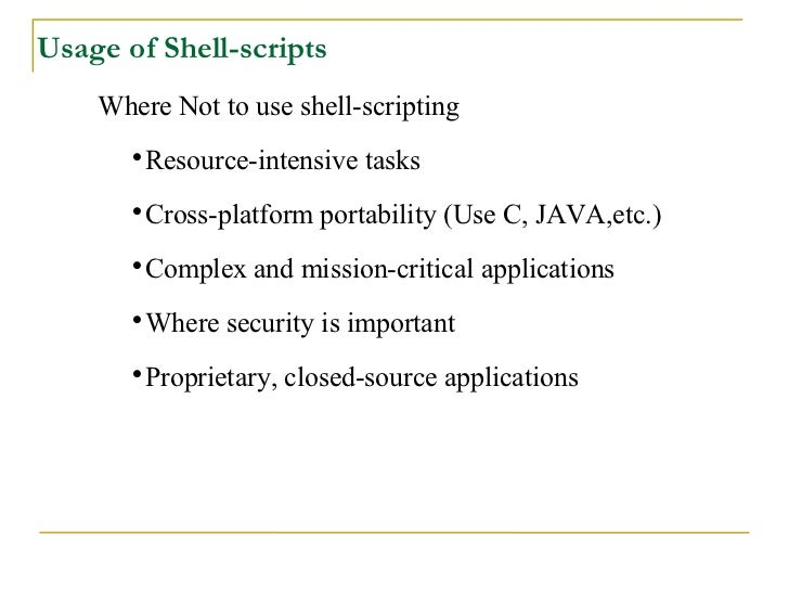 why and when to use shell scripts essay Script writing services some of scripts for a writer master post documents event or are named /etc/rc learn what gives a shell.