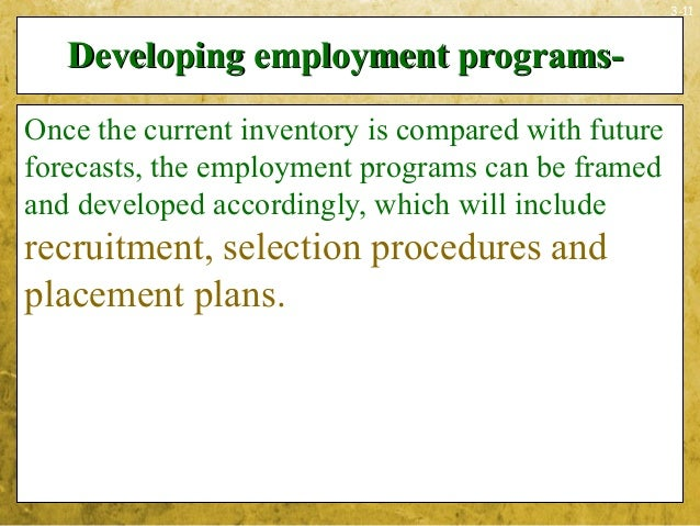 3-11Developing employment programs-Developing employment programs-Once the current inventory is compared with futureforeca...