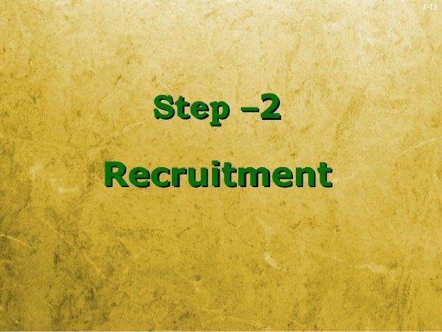 3-13Step –Step –22RecruitmentRecruitment