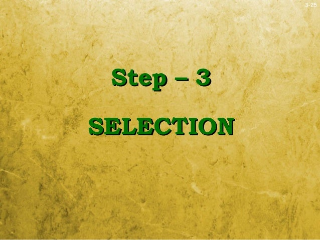 3-25Step – 3Step – 3SELECTIONSELECTION