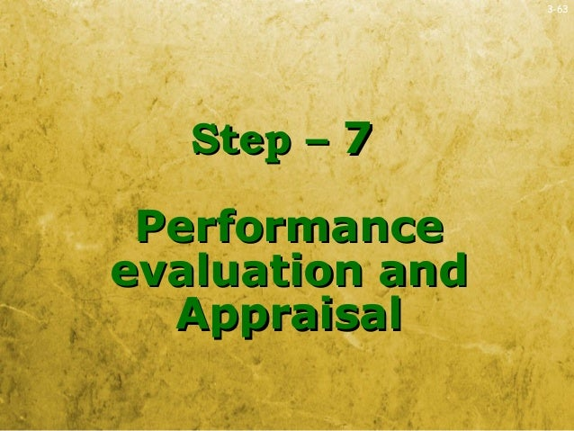 3-63Step –Step – 77PerformancePerformanceevaluation andevaluation andAppraisalAppraisal
