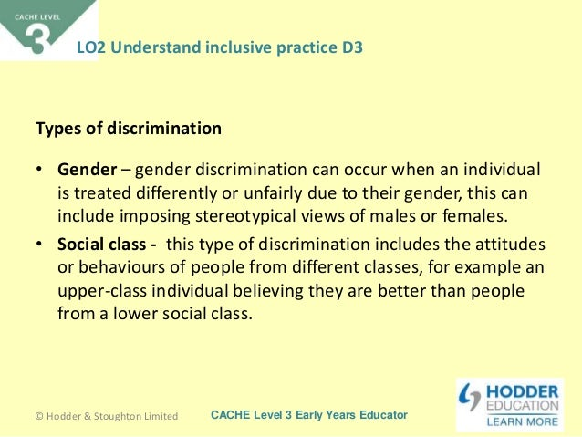 definition of discrimination in childcare