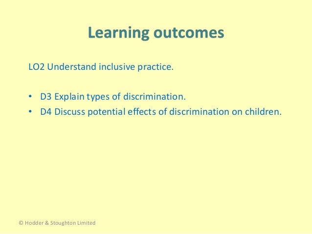 The Potential Effects of Discrimination Essay Sample