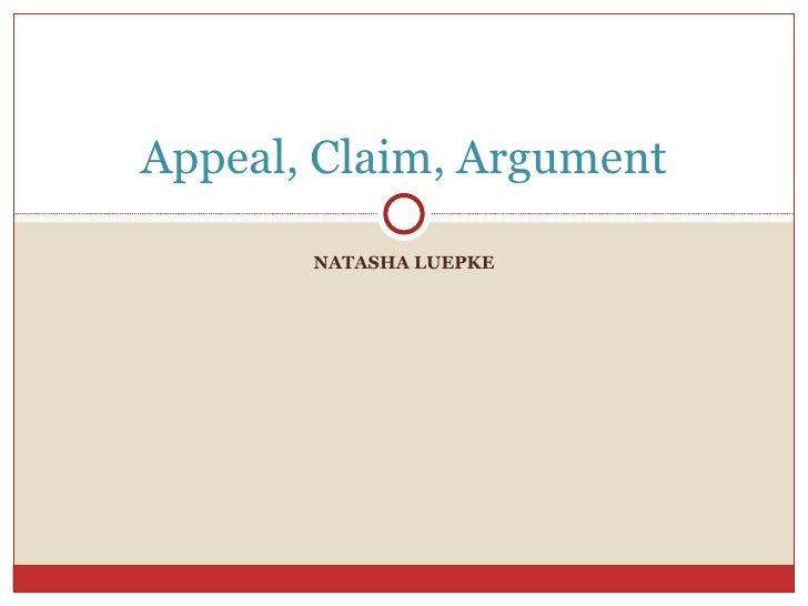 NATASHA LUEPKE Appeal, Claim, Argument